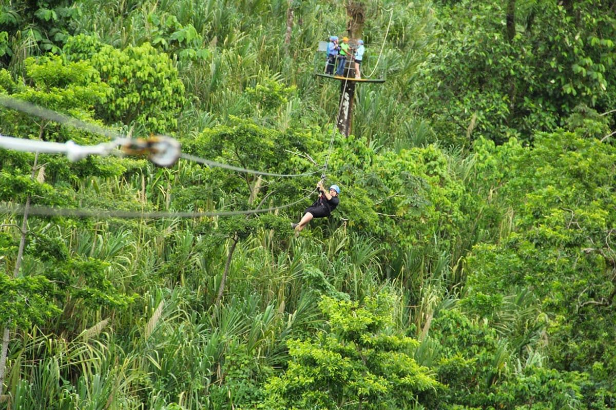 Ziplinen in Costa Rica