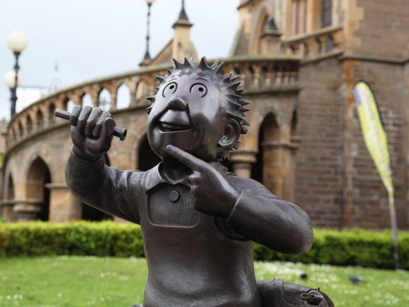 Stripfiguren in Dundee Schotland