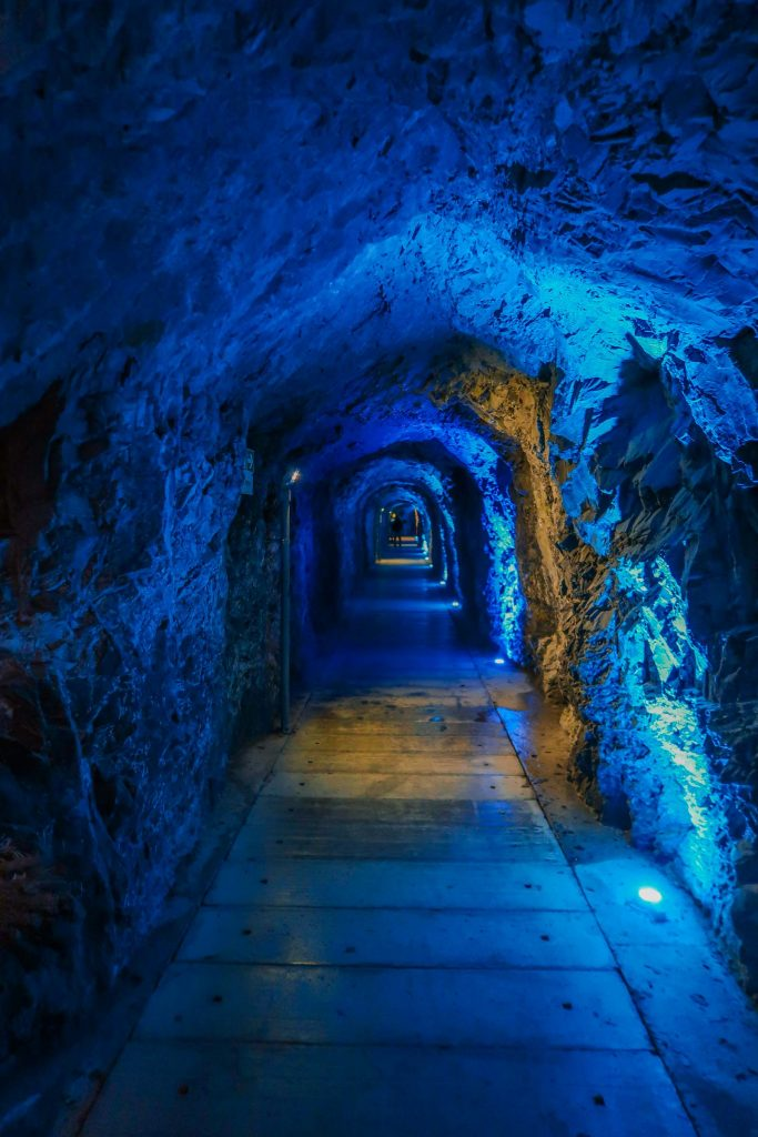 Tunnel in de Tamina Kloof in Pfafers